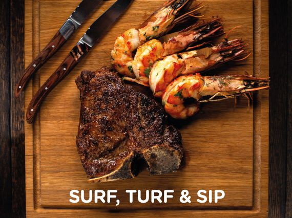 Surf Turf Sip at Rhodes Twenty10